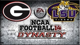 NCAA Football 14 Dynasty Mode Week 5: Georgia Bulldogs vs LSU Tigers