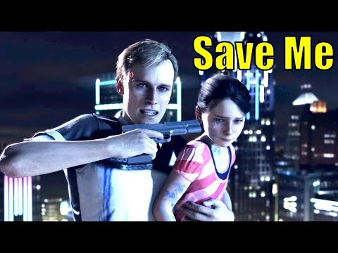 Android Sacrifices Himself To Save A Little Girl – All Endings – Detroit Become Human Demo PS4 Pro