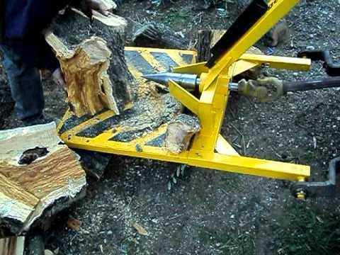 Σκισιμο ξυλων (ρίζες) μηχανοκίνητο σχιστήριο AVI