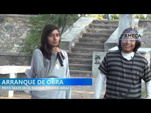 ARRANQUE DE LA OBRA PISTA SKATE EN EL PARQUE DR. LUIS ROMERO ARIAS