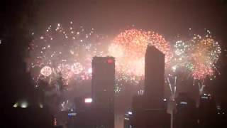 Some highlights from the firework display over Victoria Harbour on Saturday 1st July 2017, the 20th anniversary of the Hong Kong...