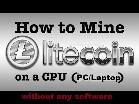 How to Mine Litecoin on Windows (PC/Laptop) without any software| Hindi|| LTC CPU MINING|