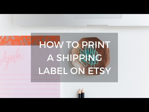 How to Print a Shipping Label on Etsy