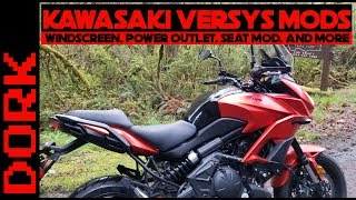 8. Kawasaki Versys Mods: Windscreen, Charger Outlet, Seat Mod, and More