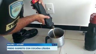 Avaré: homem é preso com cocaína líquida escondida em garrafas