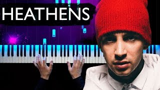 Twenty one pilots - Heathens | Piano tutorial | Sheets
