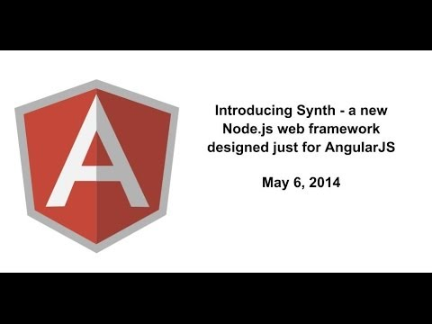 synth - Introducing Synth - A new Node.js web framework designed just for AngularJS Speaker: Jon Abrams (bio below) This was the first public demonstration of the new back-end web framework called...
