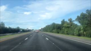 Florida to North Carolina drive time lapse.