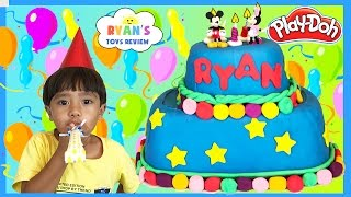 PLAY DOH CAKE Happy Birthday Chocolate Surprise Eggs!!