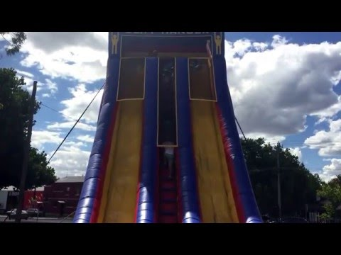 Irwin's jumping castle hire at Wade Park for NRL match