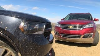 2013 Dodge Durango Vs Chevy Traverse Muddy Off-Road Mashup Review (Part 3)
