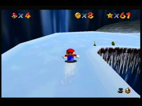 Super Mario 64 Secret Passage in Snow board