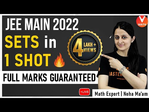 Sets IIT JEE in 1 Shot By Neha Agrawal Ma'am | JEE Math Maths Super Revision | Vedantu