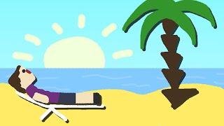 Zombey erkundet eine tropische Insel. | Minecraft