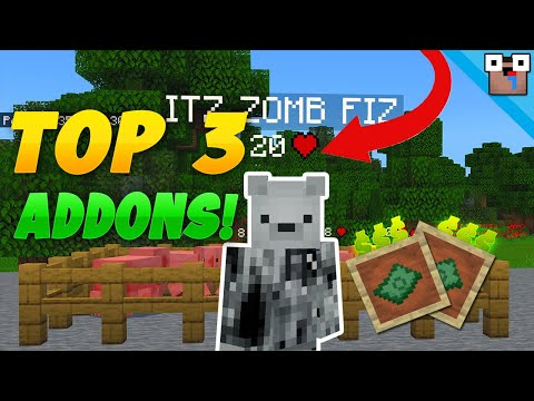 TOP 3 ADDONS TO IMPROVE YOUR SERVER! | Bedrock Addon Showcase