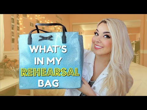 What's in my Rehearsal Bag | 2018