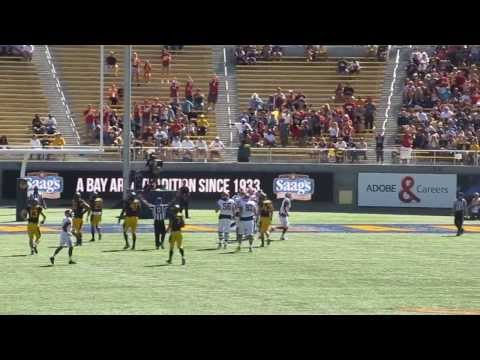 Vince Mayle 35-yard touchdown catch vs California 2013 video.