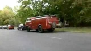 Tiszaujvaros Hungary  City pictures : Old Firetruck STARTUP in Tiszaújváros, Hungary