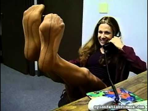 Alexandra Silk's Feet In Nylon