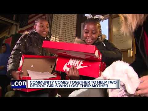 Community comes together to help two Detroit girls who lost their mother