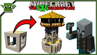 Minecraft 1.14 Watchtower Tutorial - The 5x5 Building Guide