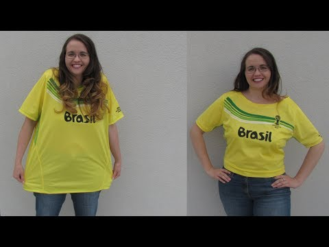 DIY: Sexy WM T-Shirt für Frauen aus einem alten Männer T-Shirt | Fussball WM 2018