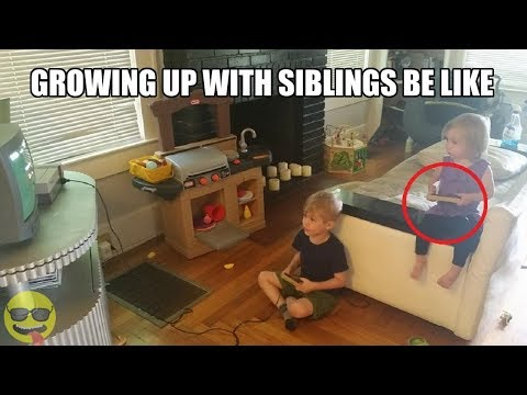 Funny quotes - Growing Up With Siblings be Like