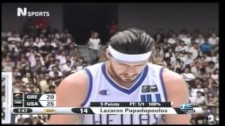 Greece vs USA 101-95 Basketball World Championship 2006