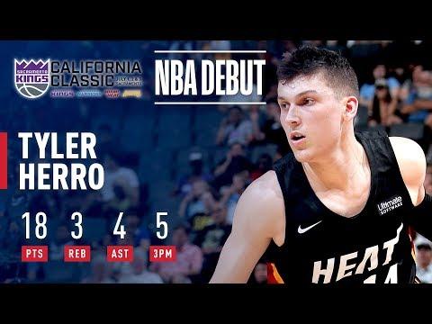 Video: Tyler Herro Heats Up In NBA Summer League Debut   2019 California Classic