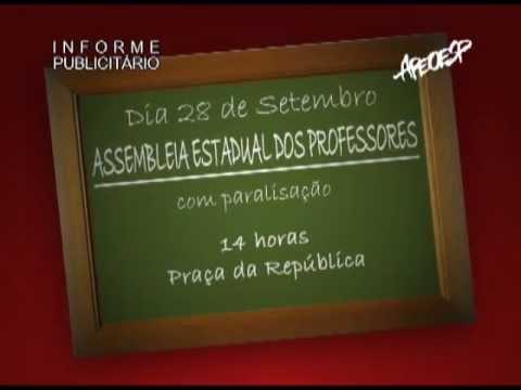 Chamada - Assembleia dos Professores com Paralização - 28/09 - 14h