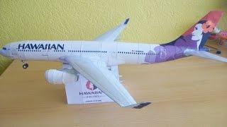 Video Hawaiian Airlines A330 200 Papercraft MP3, 3GP, MP4, WEBM, AVI, FLV Agustus 2018