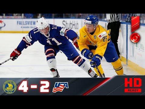 04.01.2018г. ЧМ U-20. 1/2 финала. Швеция - США - 4:2. Обзор матча (видео)