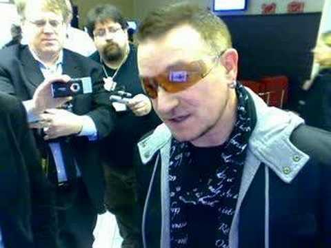 Bono responds to the Davos Question