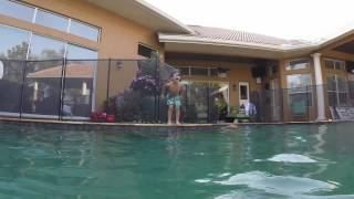 Another day at the pool with my kids having a great time filming with our GoPro.  Check out the great action shots and high flying stunts.  We also found a BIG snake in the pool.