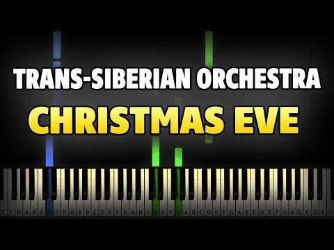 Trans-Siberian Orchestra - Christmas Eve Piano Tutorial (Sheet Music + midi)