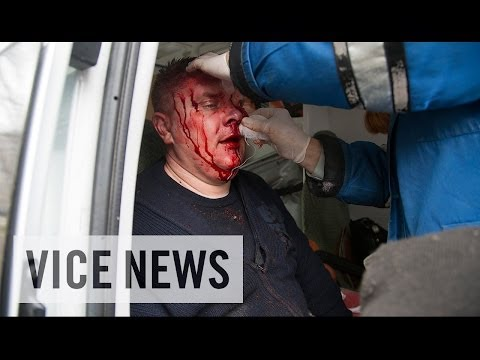 six - Subscribe to VICE News here: http://bit.ly/Subscribe-to-VICE-News On Monday, pro-Russia protesters stormed a police station in the eastern Ukrainian city of Horlivka. VICE News correspondent...