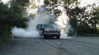 cash for clunkers 95 ford f-150 burnout