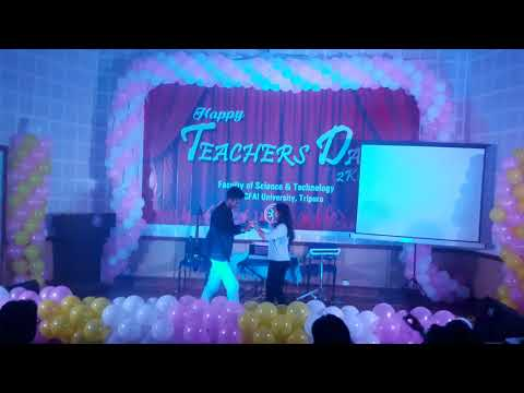 Teachers day special   2k18 at ICFAI University,Tripura || B.tech 2nd year dance performance ||