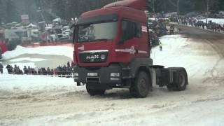 """""""AutoMedia.lv"""" skats: """"MAN"""" vilcējs gandrīz uzrāpjas sniegotajā Lielā Golgāta nogāzē"""