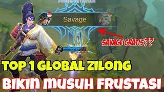 Download Video TOP 1 GLOBAL ZILONG(SkyWee) BIKIN MUSUH PUTUS ASA, DIKASIH SAVAGE GRATIS SAMA MUSUH ?? GILAKK... MP3 3GP MP4