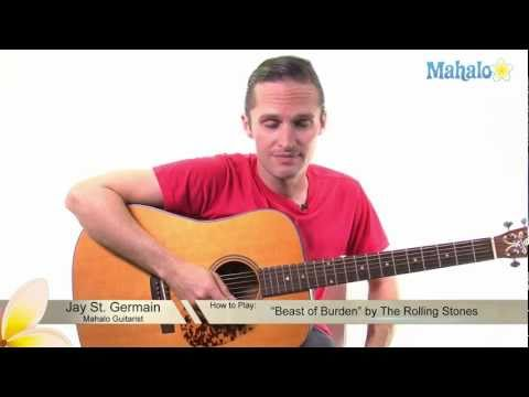 """How to Play """"Beast of Burden"""" by The Rolling Stones on Guitar"""
