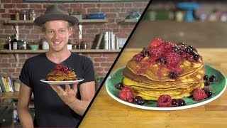 Pumpkin Pancakes w/ Berry Compote | Guy Turland by Tastemade