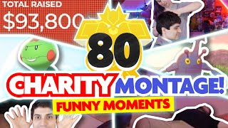 80 HOUR CHARITY MONTAGE! Pokemon Isle of Armor Shiny Montage and Funny Moments! by aDrive