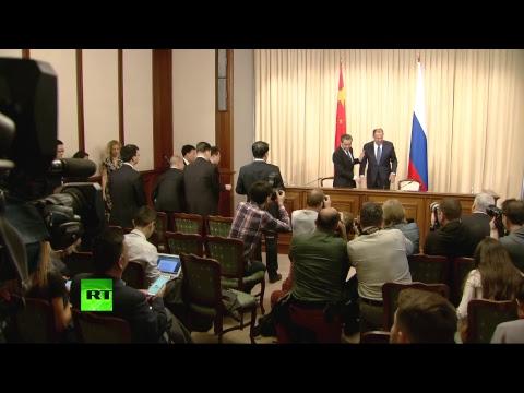 Сергей Лавров и Ван И провели пресс-конференцию по итогам встречи
