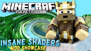 MCPE MODS - Crazy Shaders Mod (RIDING ROLLERCOASTERS WITH INSANE SHADERS MOD) - MCPE Mod Showcase