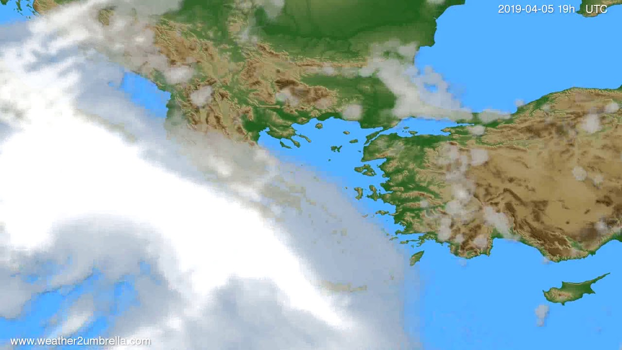Cloud forecast Greece // modelrun: 00h UTC 2019-04-03