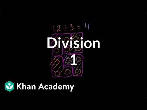 division - Learn more: http://www.khanacademy.org/video?v=MTzTqvzWzm8 Introduction to division.