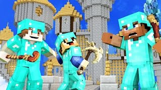 50 vs 3 WIZARD TOWER CLASH! ULTIMATE WAR IN MINECRAFT!