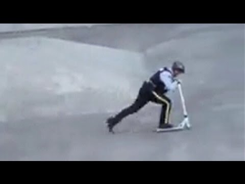 Cruising constable in B.C. shows off his moves at skate park