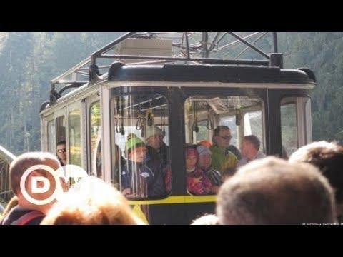Hinauf zur Zugspitze (Deutschlands höchsten Berg)!  ...